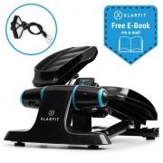 KLARFIT Galaxy Step Mini stepper fitness step charge 120kg écran LCD noir& bleu