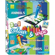 Ekta Color And Wipe Kit - Animals And Birds/ Preschool Coloring Kit For 3+ Years Toddlers/Kids