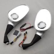 Set 2 oglinzi pentru scuter cu boxe incorporate MP3 si Radio FM