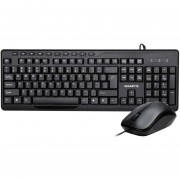 Kit Teclado y Mouse GIGABYTE KM6300 Multimedia USB Negro