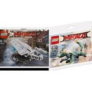 Ninjago LEGO the Movie Green Ninja Mech Dragon 30428-1 + 30427, ICE TANK MICRO BUILD Vehicle Polybag edition Exclusive Building 2 Pack Set