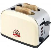 Prajitor de paine Bestron ATS100RE, 1000W, 2 felii (Ivory)