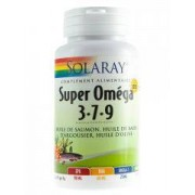 Solaray Super Omega 3-7-9 60 Softgels - Caja 60 cápsulas
