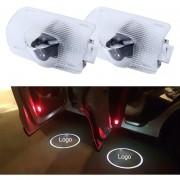 2 PCS LED Coche Puerta Bienvenido Logo Marca De Coches 3D Sombra Luz Para Toyota