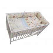 Lenjerie MyKids Baby Teddy Crem 4+1 Piese 140x70