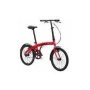 Bicicleta Dobrável Durban Eco Aro 20 1 Marcha Vermelha