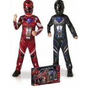 Vegaoo Zwart en Rood Power Rangers kostuum pack voor kinderen 122/128 (7-8 jaar)