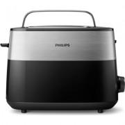 Philips Тостер Daily Collection, 8 настройки, Компактен дизайн, стойка за претопляне, черен