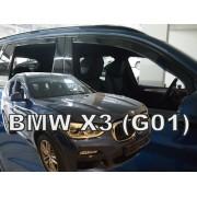 Deflektory komplet 4 ks - BMW X3 (G01), 2017-