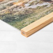 smartphoto Fotoposter mit magnetischer Posterleiste 40 x 40 cm Holz