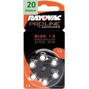 Rayovac 13 Proline Advanced Premium Zinc-Air - 20 blistere