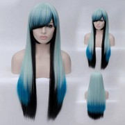 rosegal Fashion Charming Ombre Side Bang Long Straight Heat Resistant Synthetic Cosplay Wig For Women