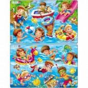 Set 2 Puzzle-uri Copii la Mare 11 piese Larsen LRU18 B39016785