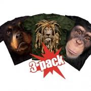 MEGA Akce - 3ks zvířecích triček za super cenu