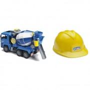 Bruder 01638 modellino betoniera man e casco scala 1:16