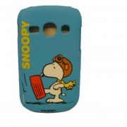 Funda Protector Mobo Samsung Fame S6810 Snoopy Azul