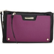 Call It Spring Women Casual Black, Purple Genuine Leather Sling Bag