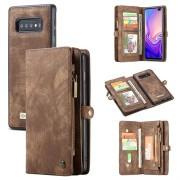 Caseme 2-in-1 Multifunctionele Samsung Galaxy S10 Wallet Case - Bruin