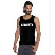 Shoppartners Security tekst singlet shirt/ tanktop zwart heren