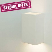 LIBERTI LAMP linea ceramica Artic Applique Cubotto In Gesso Colorabile Design Moderno