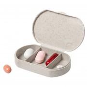 Comfort Aid 1x Medicijnen doos/pillendoos 3-vaks bamboevezel 6 cm