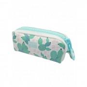 Mihi Mihi Пенал с большой молнией Кактус зелёный