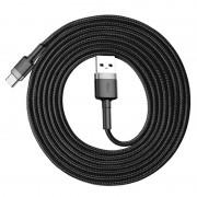 Baseus Cafule USB 2.0 / Type-C Cable CATKLF-CG1 - 2m - Black / Grey