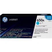 HP Cartucho de tóner original LaserJet HP 650A cian para Laserjet Enterprise CP5525
