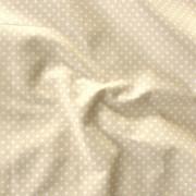 Világosdrapp apró pöttyös pamut vászon