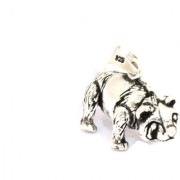 Handmade 925 Sterling Silver Unisex Charm Pendant Wild Animal Bear Ballu figure