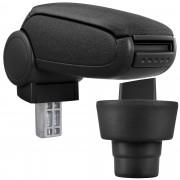 [pro.tec]® Lakťová opierka pre BMW Mini - lakťová opierka - s odkladacím priestorom - tkanina - čierna