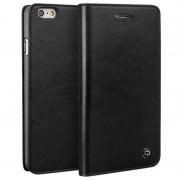 Bolsa Tipo Carteira em Pele Qialino Classic para iPhone 6 / 6S - Preto