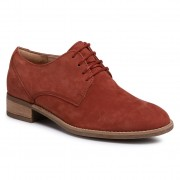 Оксфордки CLARKS - Netley Bloom 261407834 Rust Nubuck