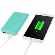 LEYOU LE-350 10000mAh External Power Bank Charger for iPhone iPod Samsung Sony Pokemon Game - Cyan