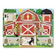 Melissa & Doug - 14592 - Loisir CrǸatif - Magnetic Farm Hide & Seek Board