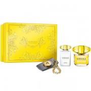Versace Yellow Diamond Комплект (EDT 90ml + BL 100ml + Ключодържател) за Жени