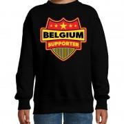 Bellatio Decorations Belgi? / belgium supporter sweater zwart voor kinderen 12-13 jaar (152/164) - Feesttruien