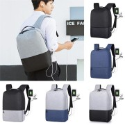 14 inch Laptop Backpack Bag Outdoor Travel Sports Day Notebook Knapsack USB charging Bags With Earphone Port
