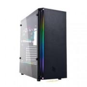 NOUA CASE MID-TOWER NO PSU DEMON T5 BLK 2USB3 1USB2 VETRO TEMPERATO RGB FAN