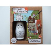Forest Friends Paint Your Own Wooden Woodland Nesting Animals Russian Dolls Owl, Fox, Bunny Rabbit, Hedgehog & Mouse - Includes The 5 Animals, 8 Paints 1 Brush