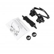 10X / 20x Lupa De Luz LED Tipo Gafas Gafas Lupa Para Ver Reparar Negro