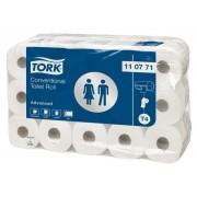 Tork Advanced toiletpapier 2-lgs wit 50mtr x10cm pak à 30 rol/400 vel (110771)