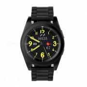 NO.1 G6 Bluetooth 4.0 monitor de ritmo cardiaco Smart Watch - Negro