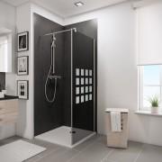 Schulte Home Paroi latérale pour porte de douche pivotante 90 cm, anticalcaire
