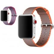 Apple Nylonový řemínek žíhaný 42 mm malinový