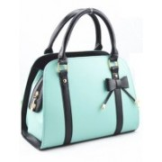 Carry elegance Women's PU Bowtie Handbag (Nursery/Play School) Waterproof Shoulder Bag(Light Blue, 10 L)