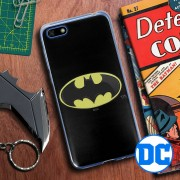 DC Comics Cover Huawei Y5 2018 / Honor 7s Batman Silicone Gel Ultra-Sottile Dc Comics Nera