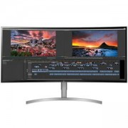 Монитор LG 38WK95C-W, 37.5 21:9 UltraWide, Curved WQHD 3840x1600 IPS Panel with USB Type-C, 1ms Motion Blur Reduction, 5ms, 300 cd/m2, 38WK95C-W