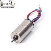 Invento 2pcs 3.7V 8.5x20mm 8520 Micro Coreless High Speed 39000 RPM Motor with 9 teeth Plastic Gear For Quadcopter Helic