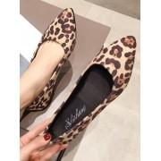 Rosegal Chaussures Plates Léopard Imprimé à Bout Pointu EU 38